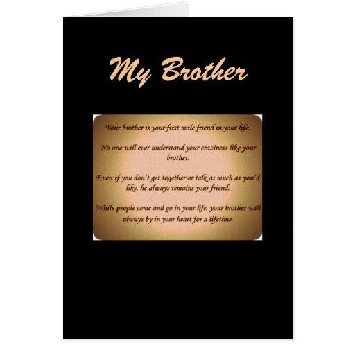 mi hermano felicitación