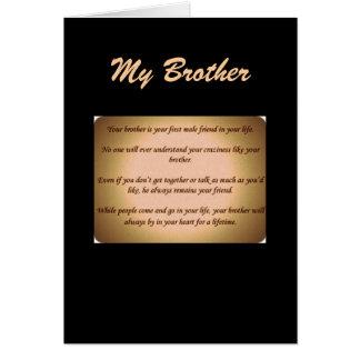 mi hermano tarjeta de felicitación