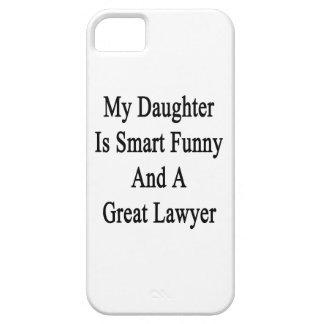 Mi hija es divertida elegante y gran abogado iPhone 5 Case-Mate coberturas