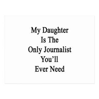Mi hija es el único periodista que usted siempre postal