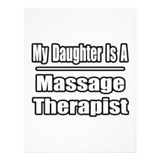Mi hija es terapeuta del masaje tarjetas publicitarias