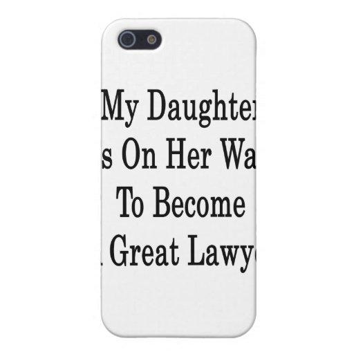 Mi hija está en su manera de hacer gran abogado iPhone 5 cárcasa