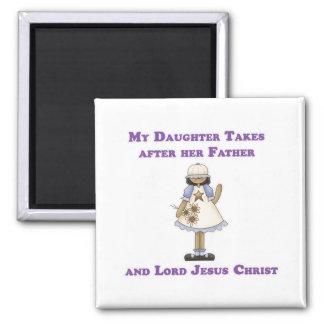 Mi hija toma después de su padre y señor Jesús Imán