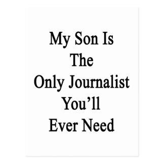 Mi hijo es el único periodista que usted postal