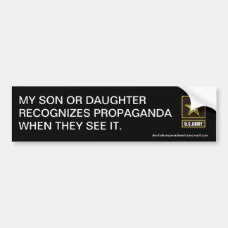 Mi hijo o hija reconoce propaganda pegatina para coche