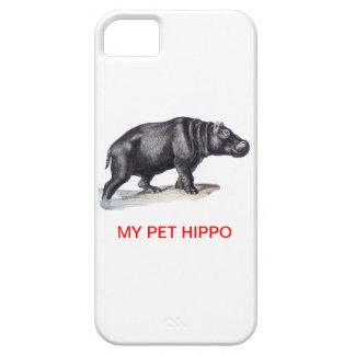 MI HIPOPÓTAMO DEL MASCOTA iPhone 5 CARCASAS