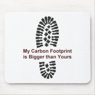 Mi huella del carbono tapete de ratón