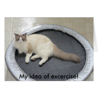 ¡Mi idea del ejercicio! Tarjeta De Felicitación