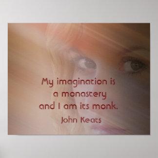 Mi imaginación - impresión del arte - Keats Póster
