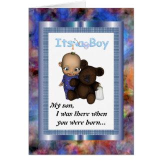 Mi invitación de boda del hijo tarjeta de felicitación
