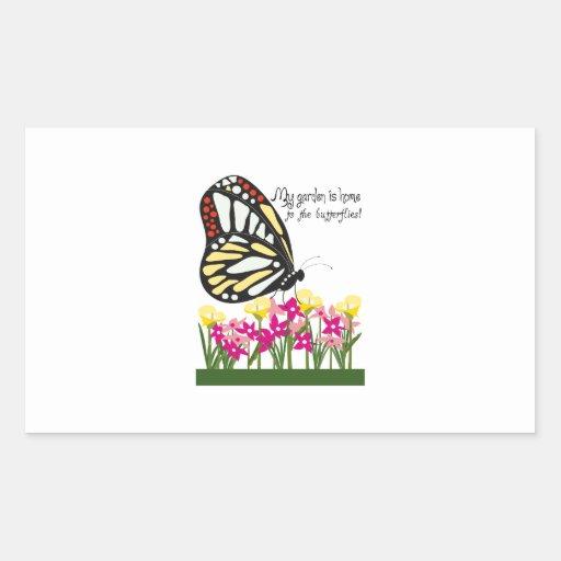 ¡Mi jardín es casero a las mariposas! Rectangular Altavoces
