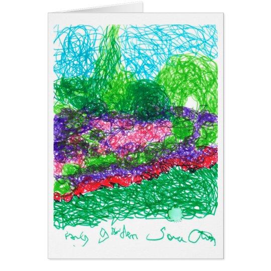 Mi jardín tarjeta de felicitación