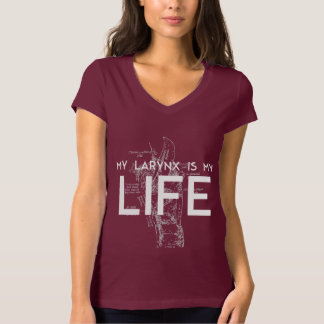 Mi laringe es mi camiseta de la vida