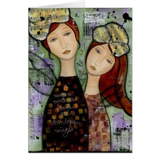 Mi madre, mi tarjeta de felicitación de la hija