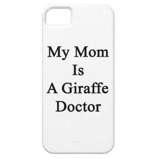 Mi mamá es doctor de la jirafa iPhone 5 cárcasas