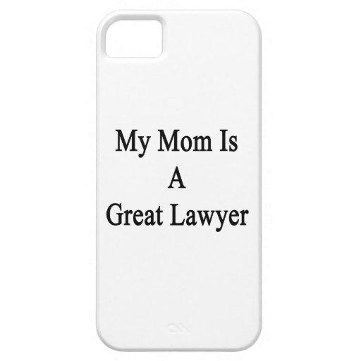 Mi mamá es gran abogado iPhone 5 Case-Mate cárcasa