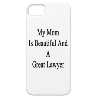 Mi mamá es hermosa y gran abogado iPhone 5 Case-Mate cobertura