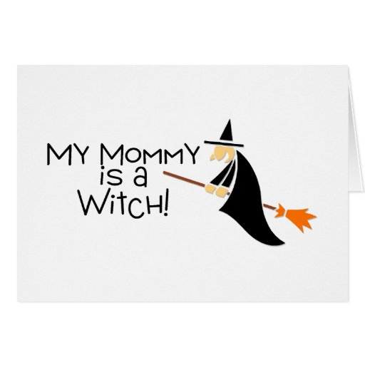 Mi mamá es una bruja Halloween Tarjeton