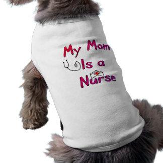 Mi mamá es una camiseta del perro de la