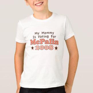 Mi mamá está votando por camiseta de los niños de