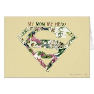 Mi mamá mi héroe tarjeta de felicitación