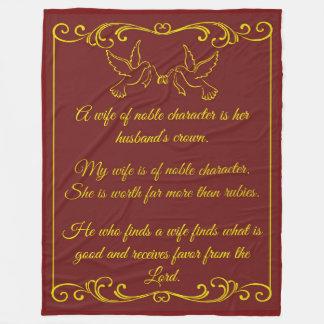 Mi manta del boda de la esposa