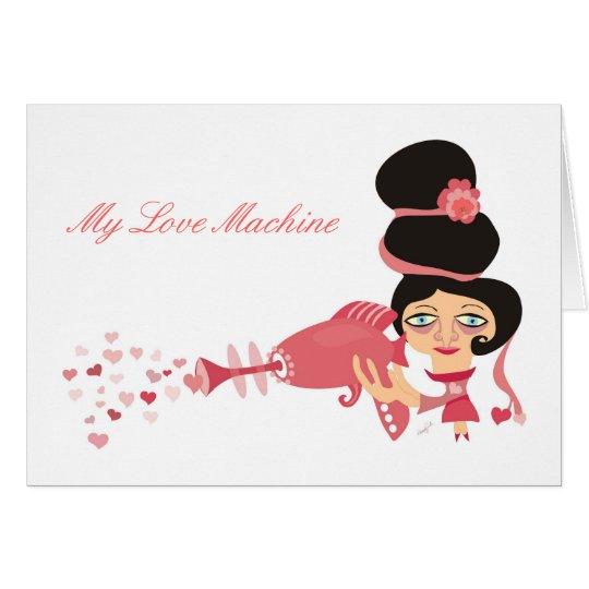 Mi máquina del amor tarjeta pequeña