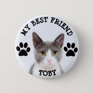 Mi mejor amigo, botón de la foto del gato del