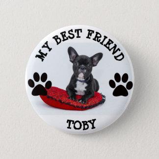 Mi mejor amigo, botón de la foto del mascota del