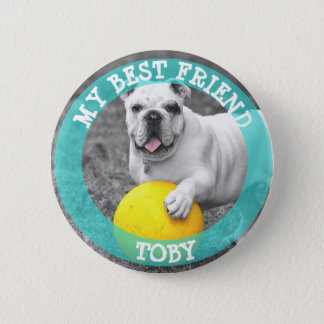 Mi mejor amigo, botón de la foto del perro