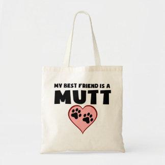 Mi mejor amigo es un Mutt Bolsa Tela Barata