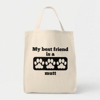 Mi mejor amigo es un Mutt Bolsa Tela Para La Compra