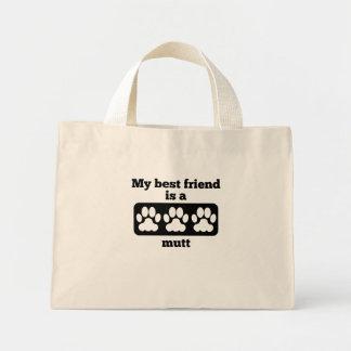 Mi mejor amigo es un Mutt Bolsa Tela Pequeña
