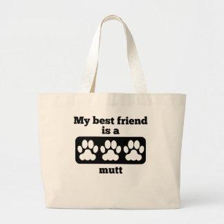 Mi mejor amigo es un Mutt Bolsa Tela Grande