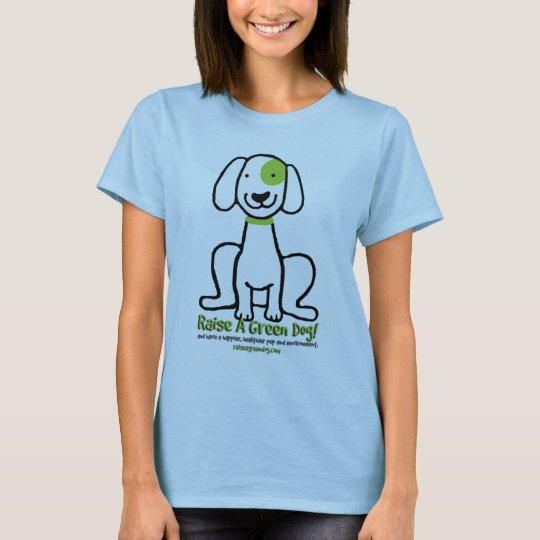 Mi mejor amigo es una camiseta verde del perro