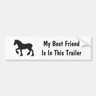 Mi mejor amigo pegatina para coche