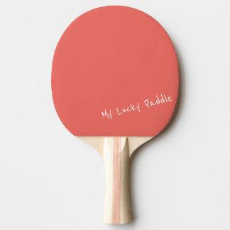 Mi melocotón afortunado/paleta coralina del pala de ping pong