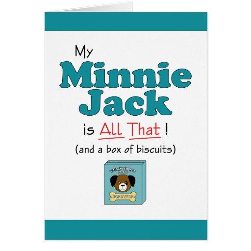 ¡Mi Minnie Jack es todo el eso! Tarjeta