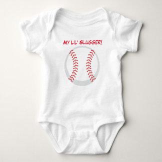 Mi mono del jersey del bebé del béisbol del