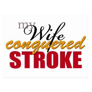 Mi movimiento conquistado esposa postal