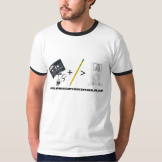 Mi música, mis conciertos, mi vida camiseta