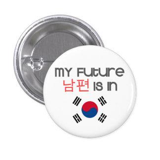 Mi Nampyeon futuro está en (la bandera surcoreana) Chapa Redonda De 2,5 Cm