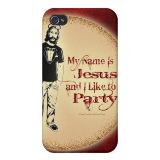 MI NOMBRE ES JESÚS Y TENGO GUSTO DE IR DE FIESTA iPhone 4 CARCASAS