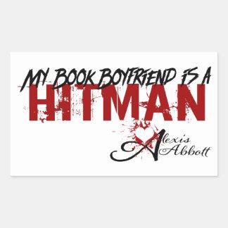Mi novio del libro es Hitman Pegatina Rectangular