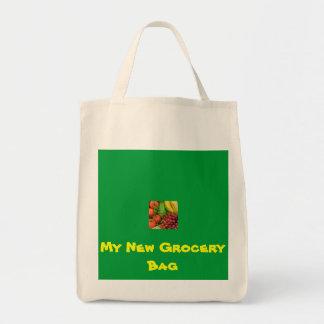 Mi nuevo bolso de ultramarinos bolsa tela para la compra