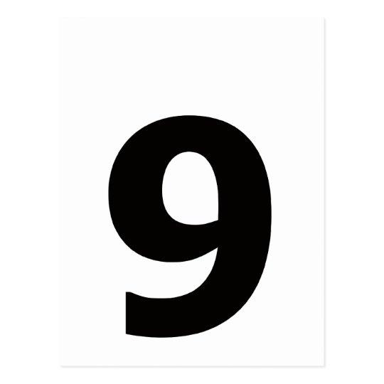 ¡Mi número es 9! Postal