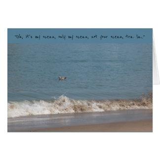 Mi océano tarjeta de felicitación