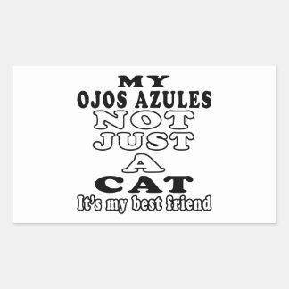 Mi Ojos Azules no apenas un gato es mi mejor amigo Rectangular Pegatinas