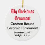 Mi ornamento plano de cerámica de encargo del ornamentos de navidad