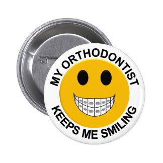 Mi Orthodontist me guarda el botón sonriente/Pin